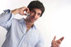 человек мобильного телефона стоковое фото