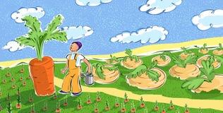человек моркови гигантский смотря Стоковая Фотография RF