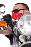 Человек на мотовелосипеде стоковые фотографии rf