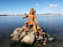 Человек на озере стоковые фотографии rf
