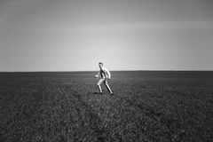 Человек на поле стоковое фото rf