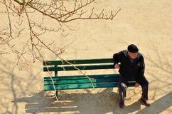 Человек на стенде Стоковые Фото
