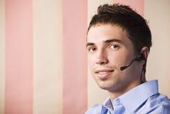 Человек обслуживания клиента Стоковые Фото