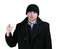 человек пальто стоковое изображение