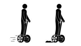 Человек пиктограммы ехать Segway бесплатная иллюстрация