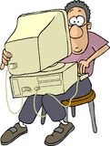 человек плохой s компьтер-книжки компьютера Стоковая Фотография RF
