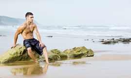 человек пляжа сексуальный Стоковое Фото