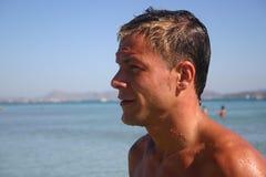 человек пляжа Стоковое Фото