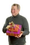 человек подарков Стоковое Изображение RF