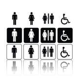 человек подписывает женщину туалета бесплатная иллюстрация
