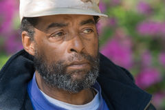 человек пожилых людей афроамериканца Стоковые Изображения RF