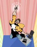 Человек показывая жест победы Стоковые Фотографии RF