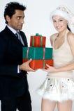 Человек получая подарки Стоковые Изображения RF