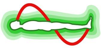 человек поля энергии иллюстрация вектора