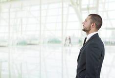 человек предпосылки изолированный делом над белизной Стоковое Фото
