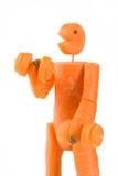 человек пригодности моркови Стоковое фото RF