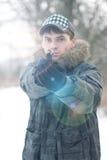 человек пушки Стоковая Фотография