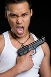 человек пушки стоковое изображение