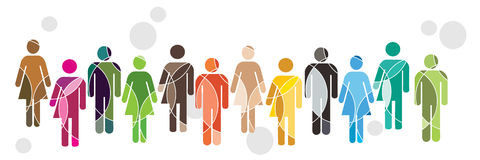 человек разнообразности принципиальной схемы Стоковая Фотография RF
