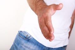 человек руки открытый Стоковое фото RF