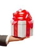 человек руки подарка Стоковые Фото