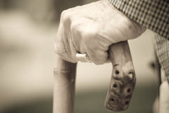 человек руки старый Стоковое Изображение RF