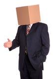 человек рукопожатия коробки Стоковое Изображение RF