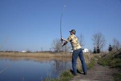 человек рыболова Стоковые Фотографии RF