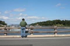человек рыболовства Стоковое Фото