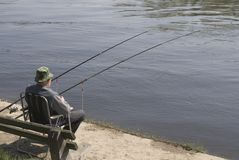 человек рыболовства Стоковое Изображение RF