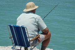 человек рыболовства Стоковое фото RF