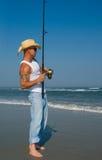 человек рыболовства Стоковые Изображения RF