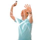 человек света чертежа воздуха Стоковое Фото