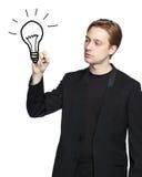 человек света чертежа шарика стоковое изображение