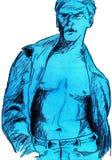 человек сексуальный Стоковое Изображение