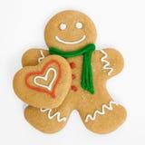 человек сердца gingerbread Стоковая Фотография