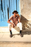 человек сигары кубинский тучный стоковое изображение rf