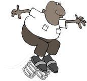 Человек скача вперед Стоковая Фотография