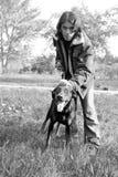 человек собаки Стоковые Фото