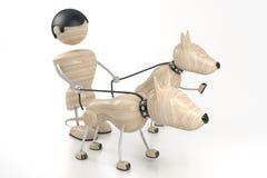 человек собак Стоковая Фотография RF