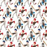 Человек спорта вектора игрока бейсбольной команды в равномерной игре представляет победителя характера профессиональной лиги ситу бесплатная иллюстрация