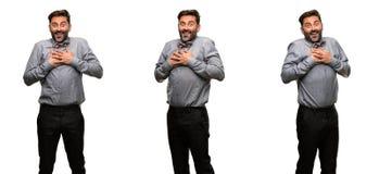 Человек среднего возраста нося костюм стоковое изображение rf