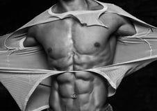 Человек срывая с его рубашки Стоковые Фотографии RF