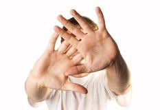 человек стороны пряча Стоковая Фотография RF