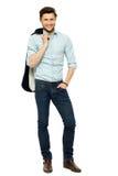 человек стоя молодо Стоковые Фотографии RF