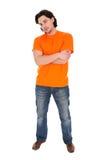 человек стоя молода Стоковые Фотографии RF
