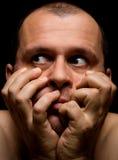 человек страха Стоковая Фотография