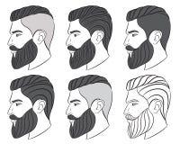 Человек с бородой, битник Стоковые Фото