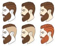 Человек с бородой, битник Стоковая Фотография RF