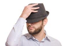 Человек с бородой в шляпе Стоковая Фотография RF
